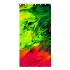 Neon Rainbow Green Pink Blue Red Painting Shower Curtain 36  X 72  (stall)  by Mariart