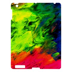 Neon Rainbow Green Pink Blue Red Painting Apple Ipad 3/4 Hardshell Case by Mariart