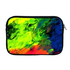 Neon Rainbow Green Pink Blue Red Painting Apple Macbook Pro 17  Zipper Case
