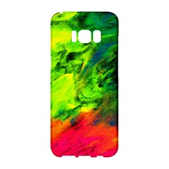 Neon Rainbow Green Pink Blue Red Painting Samsung Galaxy S8 Hardshell Case