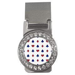 Playing Cards Hearts Diamonds Money Clips (cz)  by Mariart