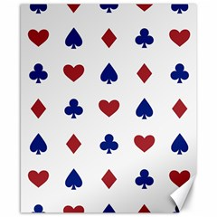 Playing Cards Hearts Diamonds Canvas 8  X 10  by Mariart