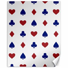 Playing Cards Hearts Diamonds Canvas 11  X 14