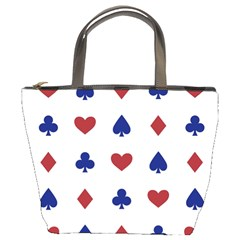 Playing Cards Hearts Diamonds Bucket Bags by Mariart