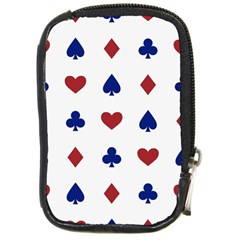 Playing Cards Hearts Diamonds Compact Camera Cases by Mariart