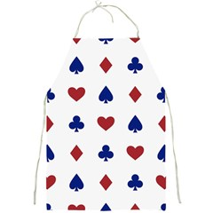 Playing Cards Hearts Diamonds Full Print Aprons by Mariart