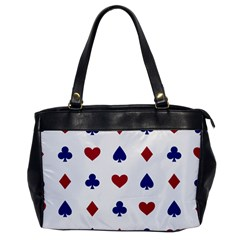 Playing Cards Hearts Diamonds Office Handbags by Mariart