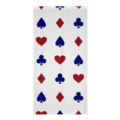 Playing Cards Hearts Diamonds Shower Curtain 36  X 72  (stall)  by Mariart
