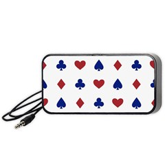Playing Cards Hearts Diamonds Portable Speaker (black) by Mariart