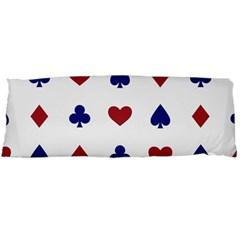 Playing Cards Hearts Diamonds Body Pillow Case Dakimakura (two Sides) by Mariart