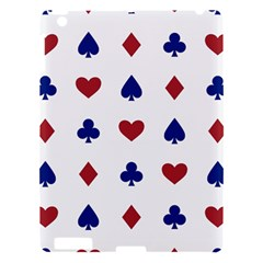 Playing Cards Hearts Diamonds Apple Ipad 3/4 Hardshell Case by Mariart