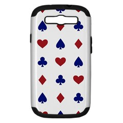 Playing Cards Hearts Diamonds Samsung Galaxy S Iii Hardshell Case (pc+silicone) by Mariart