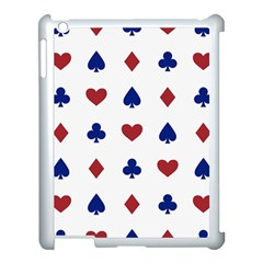 Playing Cards Hearts Diamonds Apple Ipad 3/4 Case (white) by Mariart