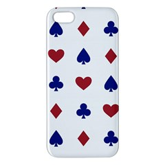 Playing Cards Hearts Diamonds Apple Iphone 5 Premium Hardshell Case by Mariart