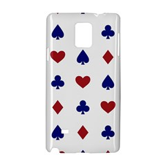 Playing Cards Hearts Diamonds Samsung Galaxy Note 4 Hardshell Case by Mariart
