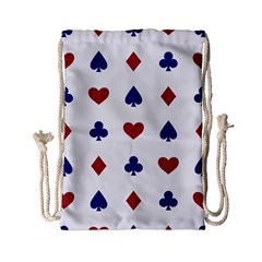 Playing Cards Hearts Diamonds Drawstring Bag (small) by Mariart