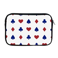 Playing Cards Hearts Diamonds Apple Macbook Pro 17  Zipper Case