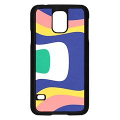 Rainbow Pink Yellow Bluw Green Rainbow Samsung Galaxy S5 Case (black) by Mariart