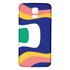 Rainbow Pink Yellow Bluw Green Rainbow Samsung Galaxy S5 Back Case (white) by Mariart