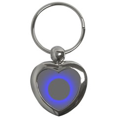 Pure Energy Black Blue Hole Space Galaxy Key Chains (heart)  by Mariart