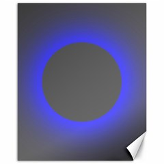 Pure Energy Black Blue Hole Space Galaxy Canvas 16  X 20   by Mariart