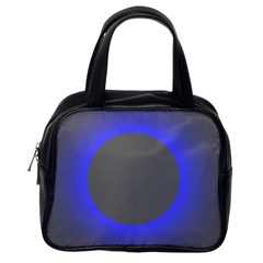 Pure Energy Black Blue Hole Space Galaxy Classic Handbags (one Side) by Mariart