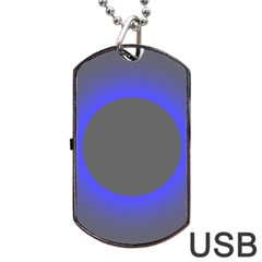 Pure Energy Black Blue Hole Space Galaxy Dog Tag Usb Flash (two Sides) by Mariart