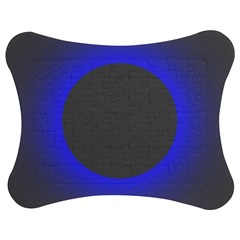 Pure Energy Black Blue Hole Space Galaxy Jigsaw Puzzle Photo Stand (bow)