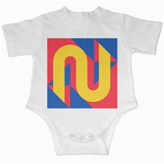 Rainbow Sign Yellow Red Blue Retro Infant Creepers by Mariart