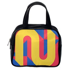 Rainbow Sign Yellow Red Blue Retro Classic Handbags (one Side) by Mariart