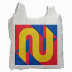Rainbow Sign Yellow Red Blue Retro Recycle Bag (one Side) by Mariart