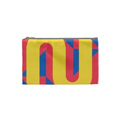 Rainbow Sign Yellow Red Blue Retro Cosmetic Bag (small)  by Mariart