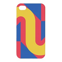 Rainbow Sign Yellow Red Blue Retro Apple Iphone 4/4s Hardshell Case by Mariart