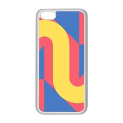 Rainbow Sign Yellow Red Blue Retro Apple Iphone 5c Seamless Case (white) by Mariart