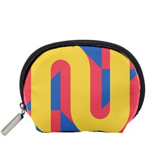 Rainbow Sign Yellow Red Blue Retro Accessory Pouches (small)  by Mariart