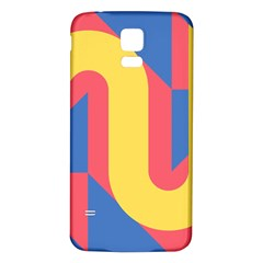 Rainbow Sign Yellow Red Blue Retro Samsung Galaxy S5 Back Case (white) by Mariart