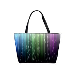 Numerical Animation Random Stripes Rainbow Space Shoulder Handbags by Mariart