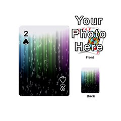 Numerical Animation Random Stripes Rainbow Space Playing Cards 54 (mini)  by Mariart