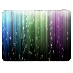 Numerical Animation Random Stripes Rainbow Space Samsung Galaxy Tab 7  P1000 Flip Case by Mariart