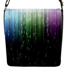Numerical Animation Random Stripes Rainbow Space Flap Messenger Bag (s) by Mariart