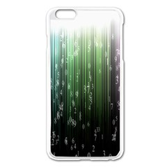 Numerical Animation Random Stripes Rainbow Space Apple Iphone 6 Plus/6s Plus Enamel White Case by Mariart