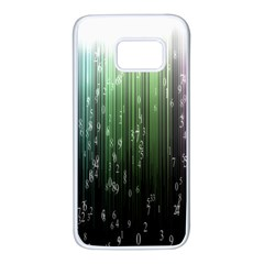 Numerical Animation Random Stripes Rainbow Space Samsung Galaxy S7 White Seamless Case by Mariart
