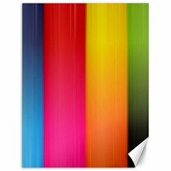 Rainbow Stripes Vertical Lines Colorful Blue Pink Orange Green Canvas 12  X 16   by Mariart