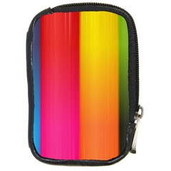 Rainbow Stripes Vertical Lines Colorful Blue Pink Orange Green Compact Camera Cases by Mariart