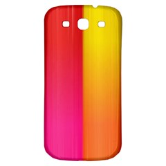 Rainbow Stripes Vertical Lines Colorful Blue Pink Orange Green Samsung Galaxy S3 S Iii Classic Hardshell Back Case by Mariart