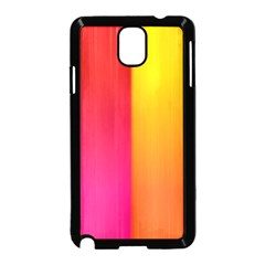 Rainbow Stripes Vertical Lines Colorful Blue Pink Orange Green Samsung Galaxy Note 3 Neo Hardshell Case (black)