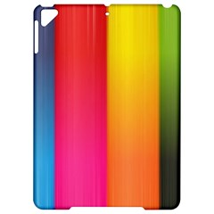 Rainbow Stripes Vertical Lines Colorful Blue Pink Orange Green Apple Ipad Pro 9 7   Hardshell Case