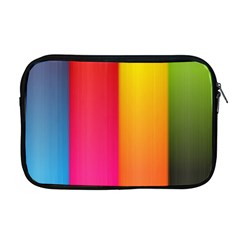Rainbow Stripes Vertical Lines Colorful Blue Pink Orange Green Apple Macbook Pro 17  Zipper Case by Mariart