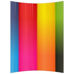 Rainbow Stripes Vertical Lines Colorful Blue Pink Orange Green Back Support Cushion
