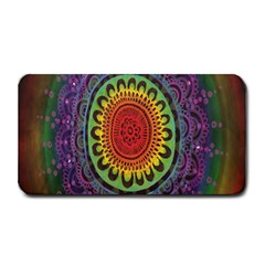 Rainbow Mandala Circle Medium Bar Mats by Mariart